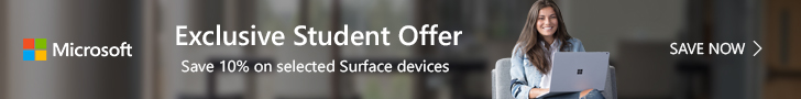 Exclusive Student Offer_Save 10% on selected Surface devices