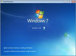 Install Windows 7