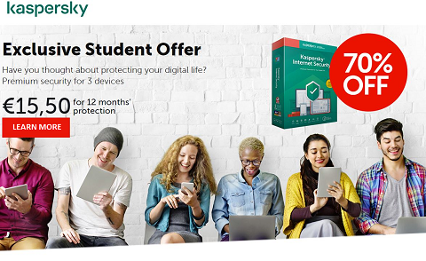 Kaskersky Exclusive Student Discount - 70% Off